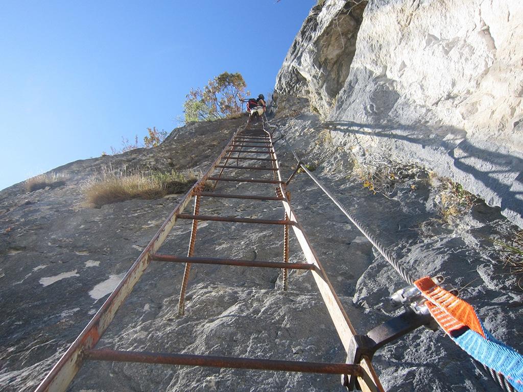 Klettersteig Gardasee : Klettersteig amicizia via dellamicizia zur cima sat