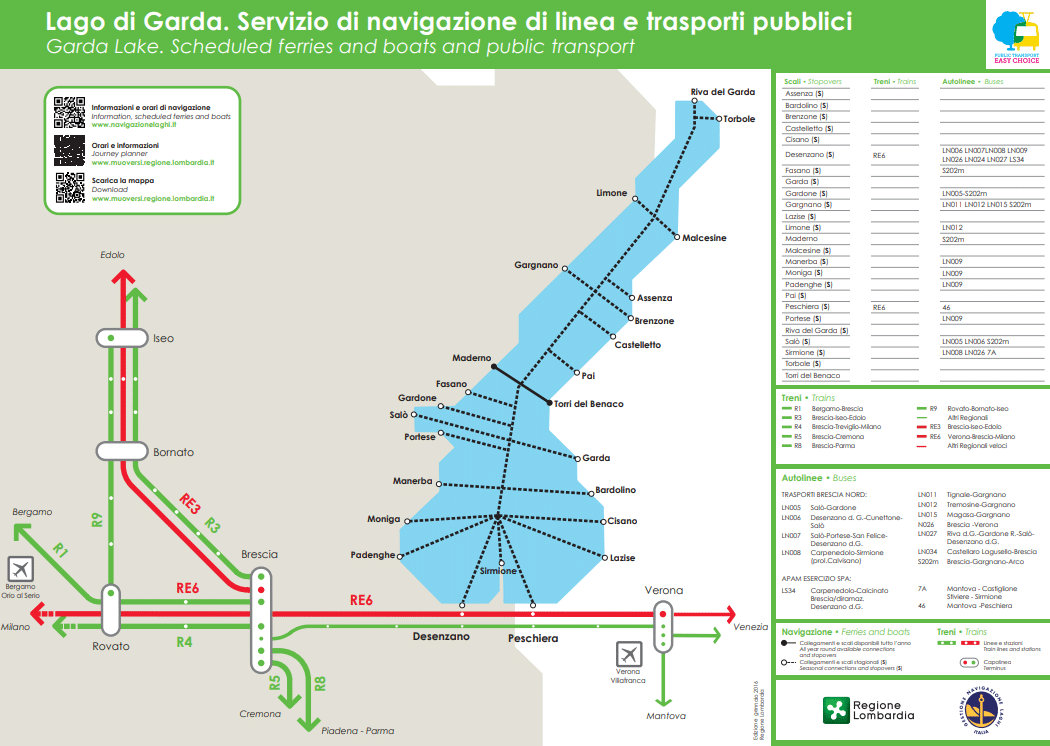 Fahrplan Fähren Gardasee 2019